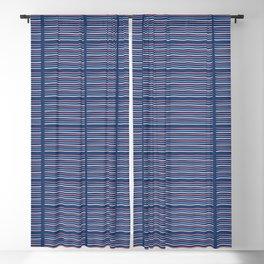 Hand drawn textured maritime stripes Blackout Curtain
