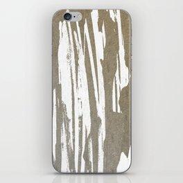 Abstract Taupe Splash Design iPhone Skin