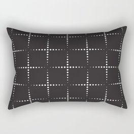 Dotted Squares Geometric Shape Pattern Rectangular Pillow