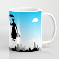 mary poppins Mugs featuring mary poppins by notbook