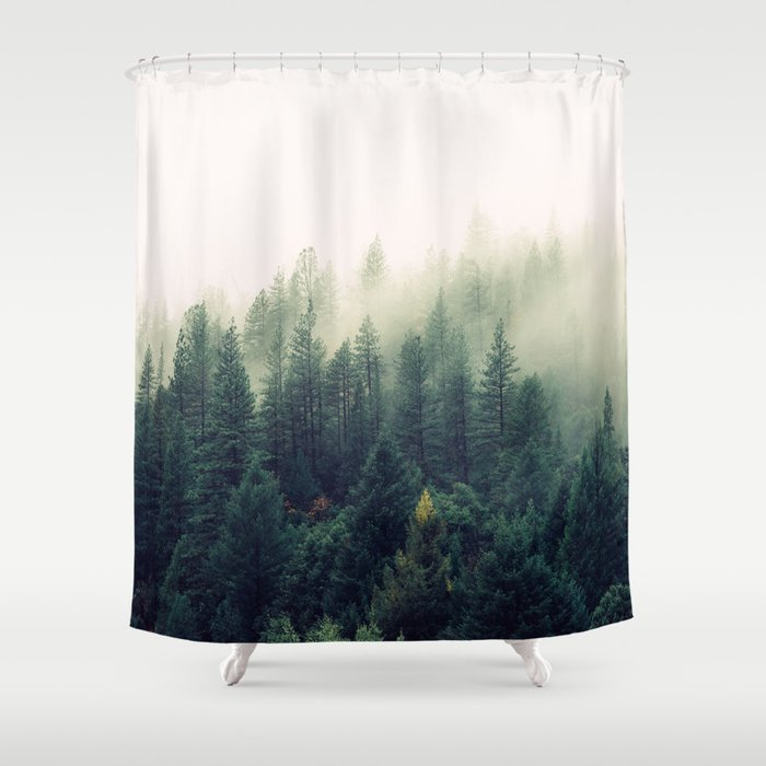 Misty Forest Shower Curtain By Orcevasilev