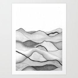 Mountainscape 5 Art Print