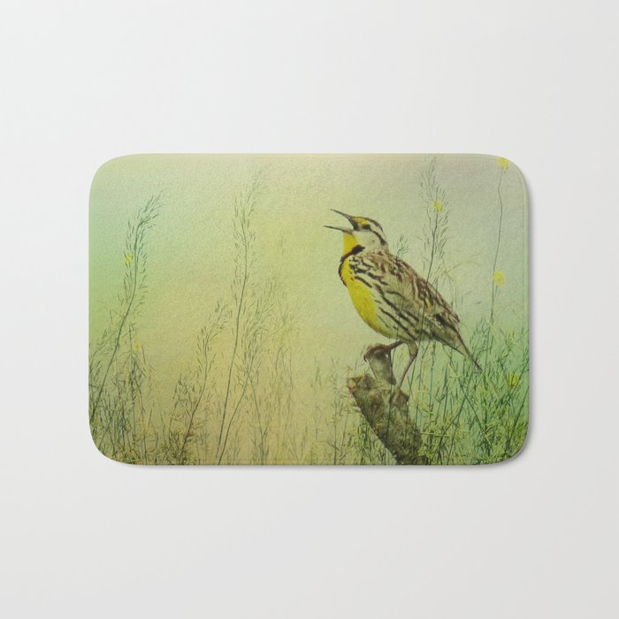 The Meadow Lark Sings Bath Mat