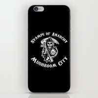 sons of anarchy iPhone & iPod Skins featuring Svamps of Anarchy by Svampriket