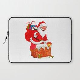 Santa in action Laptop Sleeve