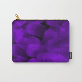 Translucent Stripes of Purple Ribbon Carry-All Pouch