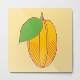 Starfruit Metal Print
