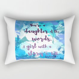 DAUGHTER OF WORDS | NEVERNIGHT BY JAY KRISTOFF Rectangular Pillow