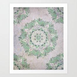 Spring Rain Mandala Art Print
