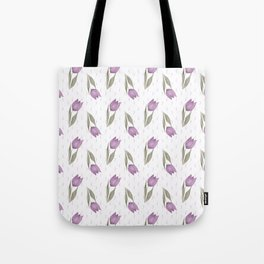 Lilac tulips Tote Bag