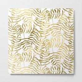 Gold Leaves 2 Metal Print