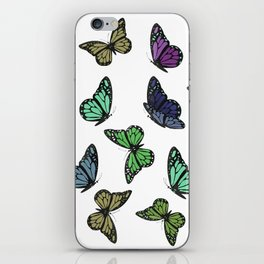 Multi Colored Butterfly Pattern iPhone Skin