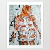 fifth element Art Prints featuring LEELOO THE FIFTH ELEMENT by JANUARY FROST