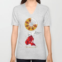 The Annunciation of Fall Unisex V-Neck