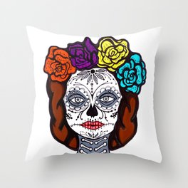 Day of Dead Bride Throw Pillow