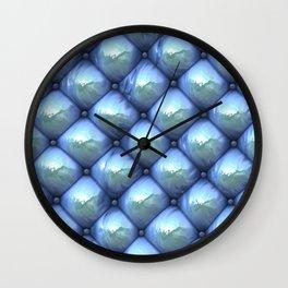 Silky reflection, blue Wall Clock