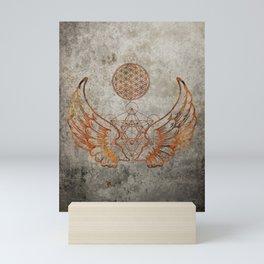Angel Wings Metatron Flower of Life T-shirt Mini Art Print