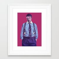 90s Framed Art Prints featuring 80/90s - LF by Mike Wrobel