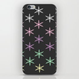colorful snow pattern iPhone Skin