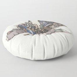 Collection of Curiosities Floor Pillow
