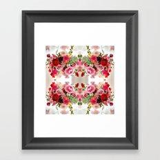 Romantic Flower Arrangement Framed Art Print