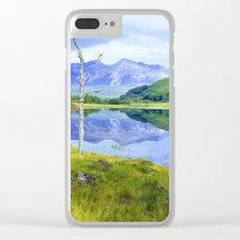 Beinn Eighe Mountain (Scottish Landscape) Clear iPhone Case