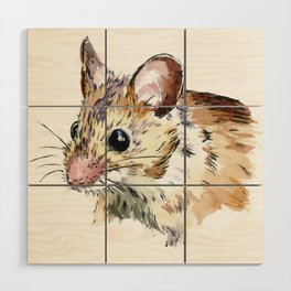Little Brown Mouse Wood Wall Art