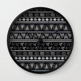 Bohemian Mud cloth Wall Clock
