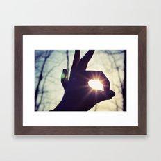 tranquillité Framed Art Print
