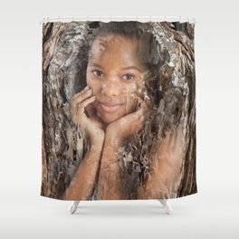 Woman Tree Shower Curtain