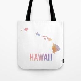 Watercolor State - HI Tote Bag