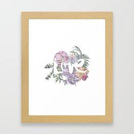 For the Love of Flowers Framed Art Print