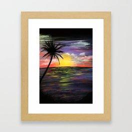 Sunset Sea Framed Art Print
