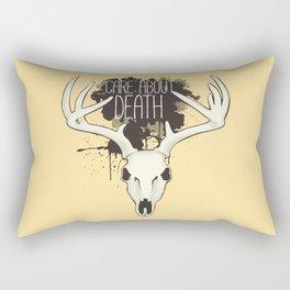 Care About Death Rectangular Pillow