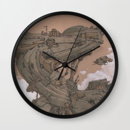 Aerial Station One Wall Clock