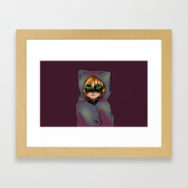 Securkitty Blanket Framed Art Print