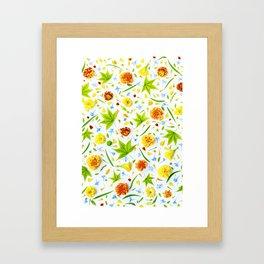 Leaves and flowers (11) Framed Art Print