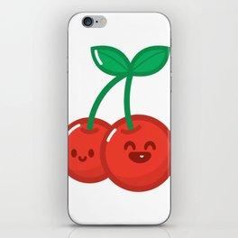 HyperKawaii happy cherry iPhone Skin