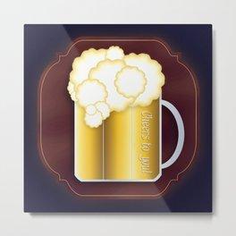 Mug of Beer, I Mean Cheer Metal Print