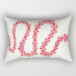 Pink & Gold Serpent Rectangular Pillow