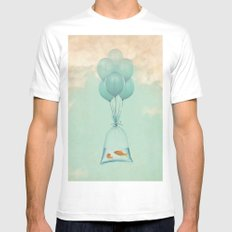 Flight to Freedom MEDIUM Mens Fitted Tee White