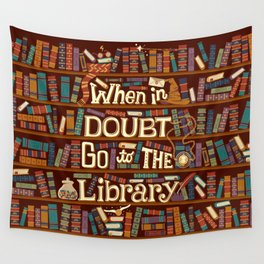 Go to the library Wall Tapestry
