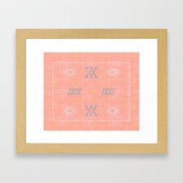 Morocco Kilim in Peach Framed Art Print