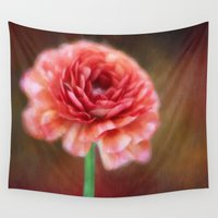 persian Wall Tapestries featuring Persian Buttercup by ThePhotoGuyDarren