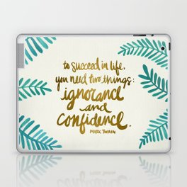 Ignorance & Confidence #1 Laptop & iPad Skin