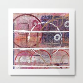 Lines, Circles And Squares, OH MY! 1 Top Square Metal Print