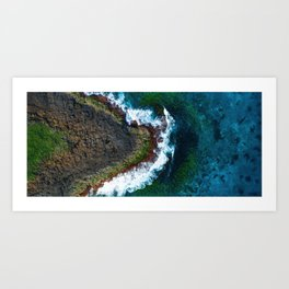 Waves and Rocks of Belowla Island Art Print
