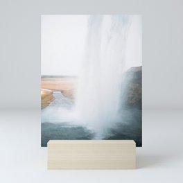 Seljalandsfoss Waterfall, South Iceland Mini Art Print