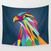 eagle Wall Tapestries featuring Eagle by mark ashkenazi