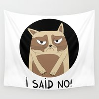 grumpy Wall Tapestries featuring Grumpy by Adrian Serghie